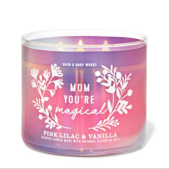 BBW Pink Lilac & Vanilla 3 Wick Candle